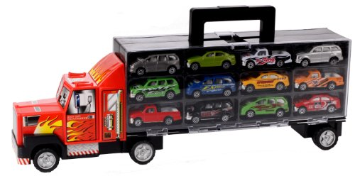 riesen-lkw-truck-49-cm-mit-tragegriff-und-12-pkw-spielzeugautos-die-cast