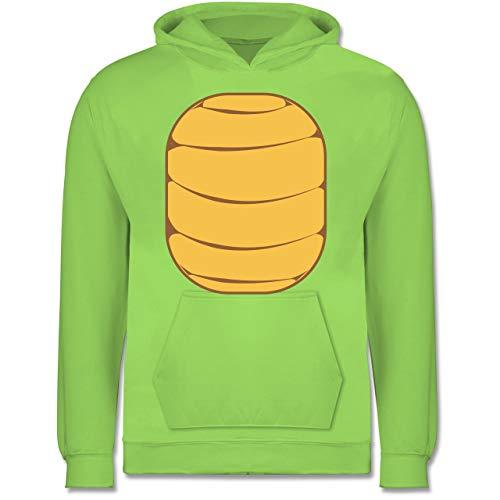 Karneval & Fasching Kinder - Schildkröten Kostüm - 12-13 Jahre (152) - Limonengrün - JH001K - Kinder Hoodie