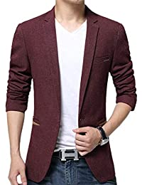 Sporty Men s 1 Button Suit Jacket Blazer Blazer Leisure Men s Clásico  Casual Suit Jackets Stylish Business be7f7c8b4aa