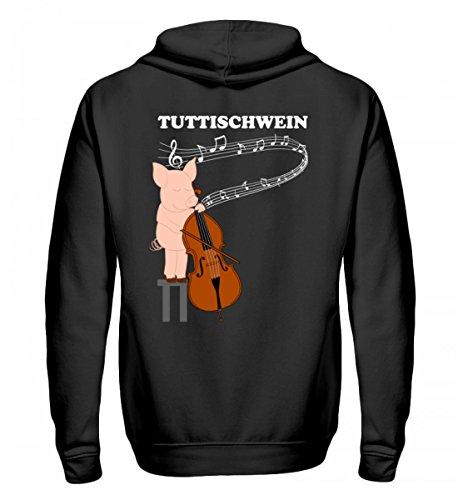 Chorchester Hochwertiger Zip-Hoodie - Perfekt für jedes Bass Tuttischwein! (Bass-zip Hoodie)