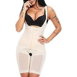 MISS MOLY Shapewear Body Femme Amincissant Bodysuit Lingerie Sculptante Combinaison Ventre Plat Taille Minceur 2 Tye Noir Beige Violet