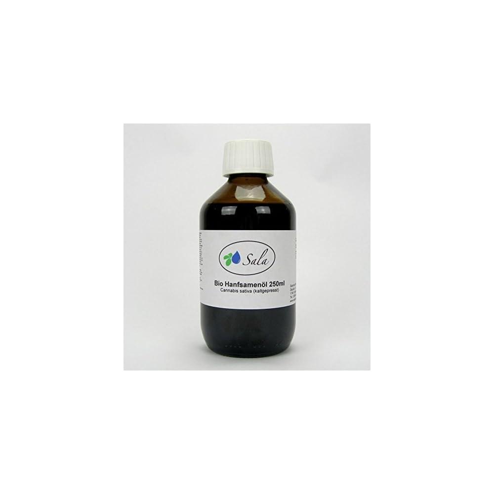 Sala Hanfl Hanfsamenl Kaltgepresst Nativ Bio 250 Ml Glasflasche