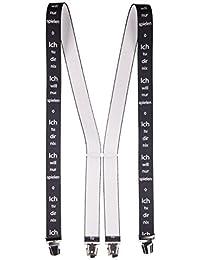 Shenky Hosenträger, 4 Klips, X-Form, unisex