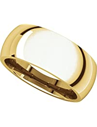 18ct Yellow Gold, Comfort Fit Wedding Band 8MM (sz H to Z5)