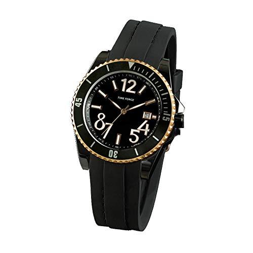 Time Force Reloj Analógico para Mujer de Cuarzo con Correa en Caucho TF4186L15