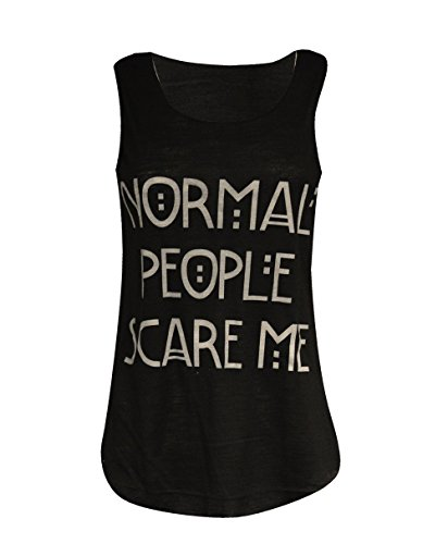 Damen Top mit Slogan Coca-Cola / Normal People / Act Like A Lady (in englischer Sprache) - Black Normal