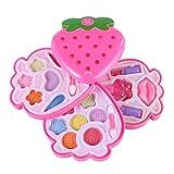 Yvsoo Schminkkoffer Kinder Kosmetikkoffer Lidschattenpulver Schminkset Prinzessin Mädchen Kosmetikkoffer Rollenspiel Spielzeug für Kinder