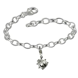 SilberDream Charms Kette Set – Marienkäfer – 925 Sterling Silber Charm Armband – FCA135