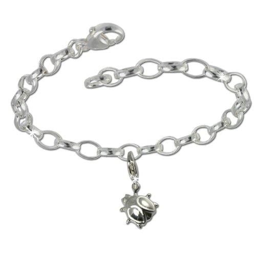 SilberDream Charms Kette Set - Marienkäfer - 925 Sterling Silber Charm Armband - FCA135 (Silber Armbänder Für Charms)