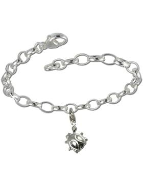 SilberDream Charms Kette Set - Marienkäfer - 925 Sterling Silber Charm Armband - FCA135