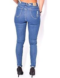 Jeans skinny destroy à patchs
