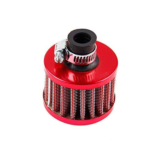 GLxlsbz Auto Universal Luftfilter Sport luftfilter Luftfilter Intake Induction Kit Luftfilter Tuning Stream Air Carbon Geeignet für die meisten Motocross-Motoren von PKW (blau), red