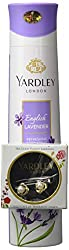 Yardley London English Lavender Refreshing Deo for Women, 150ml with Free Earrings