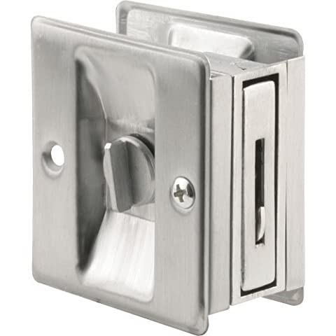 Prime-Line Products N 7161 Pocket Door Privacy Lock with Pull, Satin Chrome by Prime-Line Products