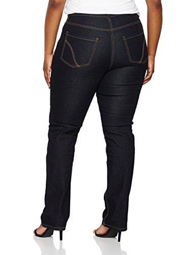 Ulla Popken Große Größen Damen große Größe bis 64, Jeans-Hose, Basic  , Regular Fit, Straight Leg , Denim-Optik, 5-Pocket, Stretch , 702859 Blau (dunkelblau 93)