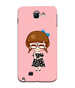 PrintVisa Designer Back Case Cover for Samsung Galaxy Note 2 :: Samsung Galaxy Note Ii N7100 (memorable girl design :: Fairy girl :: sweetie girl design wallpaper :: Sweet and cute girl :: Nice pink color design :: Angel Girl :: Baby Girl)