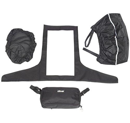 Drive Medical Kit di accessori per scooter per disabili, con coprimanubrio, fodera e coperchio per cestino e piccolo borsello