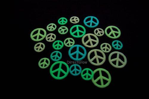 Glow In The Dark Peace Sign Symbols