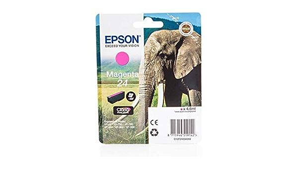 Epson Original Epson Expression Photo Xp 760 24 C 13 T 24234010 Tintenpatrone Magenta 360 Seiten 4 6ml Bürobedarf Schreibwaren