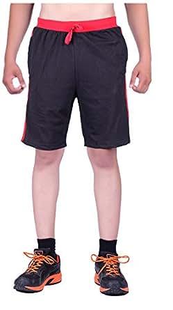 DFH Men's Cotton Shorts (MNBL2, Black, 38)