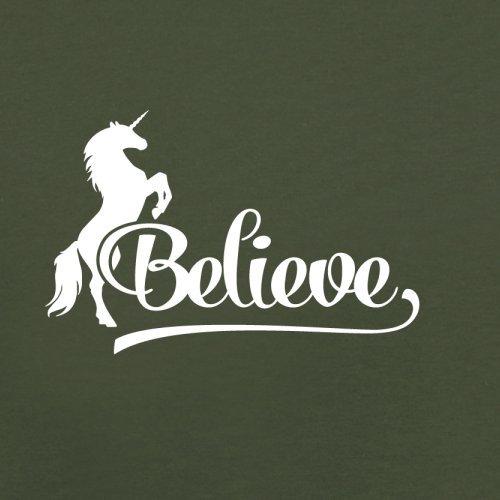 Believe Unicorn - Herren T-Shirt - 13 Farben Olivgrün