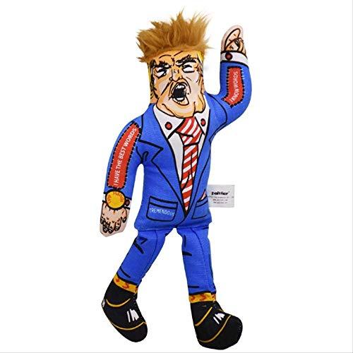 g Hundespielzeug Präsident der Vereinigten Staaten Menschliche Form Spielzeug blau Haustier Hund Kauen Spielzeug Starke Biss Ton Muppets Pet Spielzeug ()
