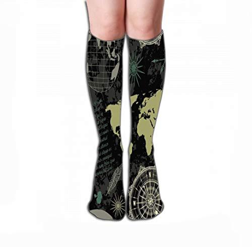 Xunulyn Hohe Socken Men's Women Dress Socks Fun Athletic Socks 19.7