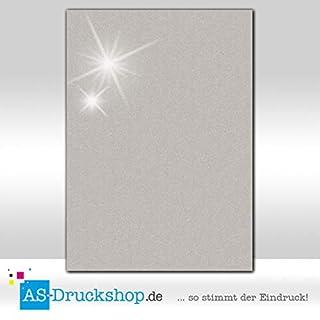 Farbiges Papier - Silber - mit Perlmutt-Glanz / 50 Blatt/DIN A4 / 120 g-Papier