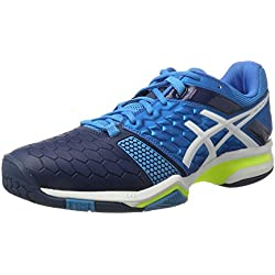 Asics Gel-Blast 7, Zapatillas de Balonmano para Hombre, Azul (Blue Jewel/White/Safety Yellow), 45 EU
