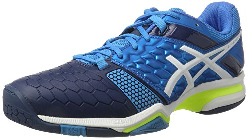 Asics Herren Gel-Blast 7 Handballschuhe, Blau (Blue Jewel/White/Safety Yellow), 44.5 EU