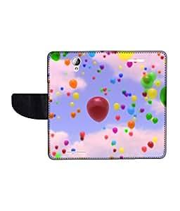 KolorEdge Printed Flip Cover For Lenovo A5000 -Multicolor (50KeMLogo10934LenovoA5000)