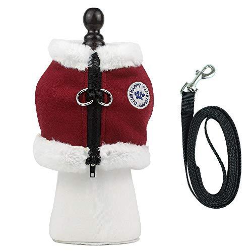 PET SPPTIES Vestiti per Cani Regolabile Pettorina Cane Gatto Carino Imbracatura Petto Cablaggio per Corsa e Passeggiate PS050 (M, Red)