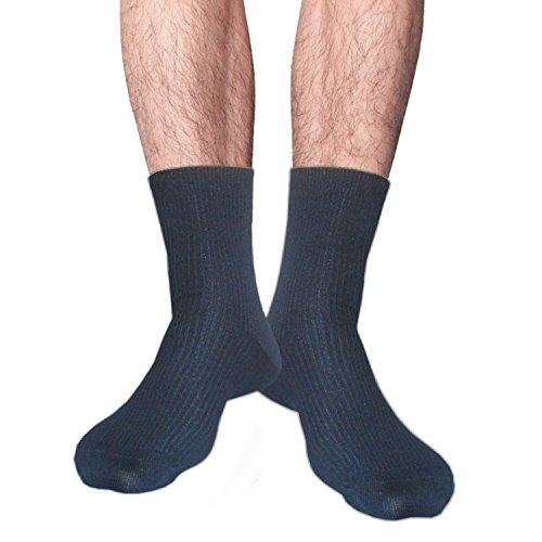unisexo Calcetines de bambú sin costuras del dedo del pie para hombre mujer para los pies sensibles (37-42, 2 pares negro)
