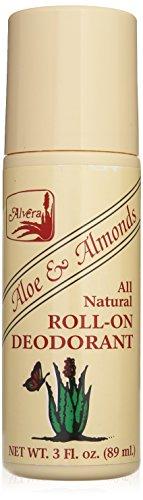 Alvera Aloe (Alvera All Natural Deo Roll-On Aloe und Mandeln-3oz, 3Flüssigunze)