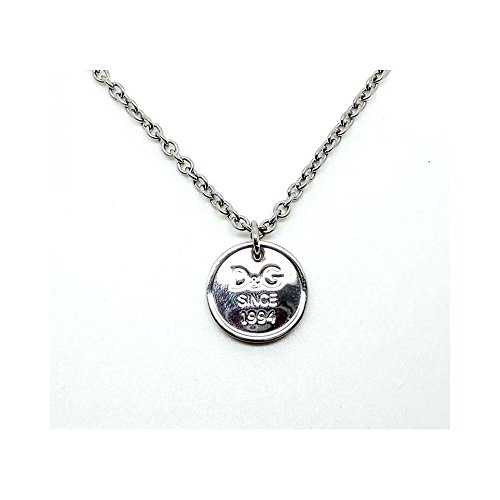 Dolce & Gabbana Jewels D&G Lover Necklace SS -Personalized Logo Medal DJ0970 Unisex