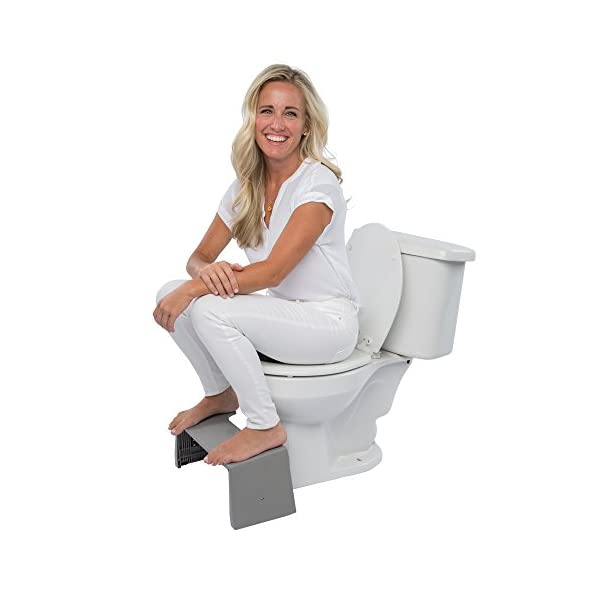 "Squatty Potty Porta Traveler Foldable Toilet Stool for Travel, 7"" Height, Gray 6"
