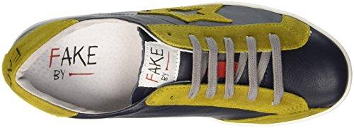 Fake By Chiodo Low F 835, Pompes à plateforme plate mixte adulte Giallo (Nero/ Giallo)