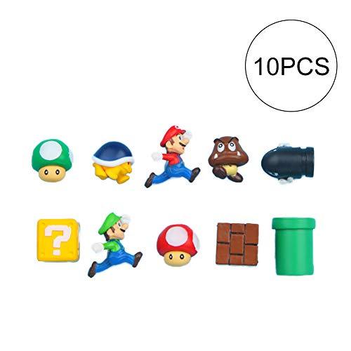 10pcs Super Mario 3D Magnete Kühlschrank Mario Kühlschrank Magnet Aufkleber Magnete Metall Wand Spielzeug für Kinder Schmuck und Dekoration-Kollektionen