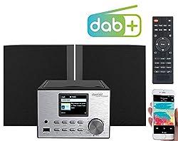 auvisio Internetradio: Micro-Stereoanlage mit Webradio, DAB+, FM, CD, Bluetooth, USB, 60 Watt (Micro Anlage)