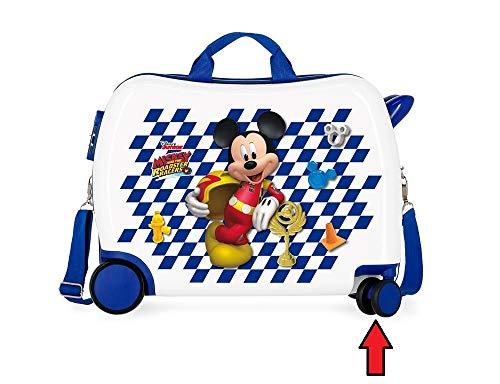 Mickey roadster racer valigia di topolino per bambini con ruote direzionali