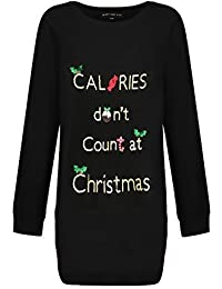 Heart And Soul Womens Xmas Calories Or All I Want Or Prosecco Tunic Jumpers