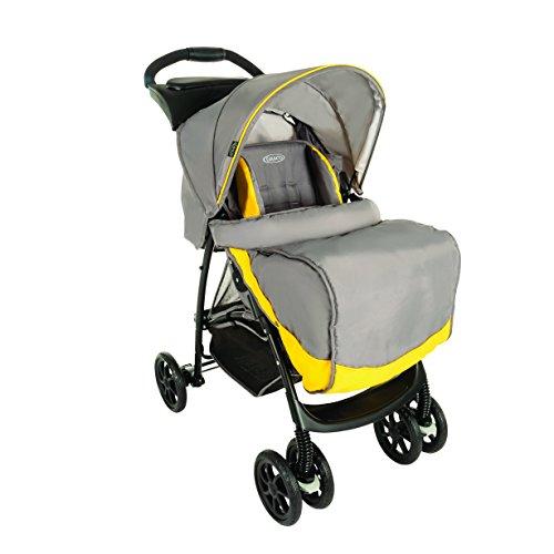 graco-mirage-poussette-avec-tablette-parentale-tablier-jaune-gris