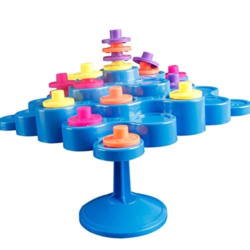 elzeug Neuheit Gleichgewicht Drehscheiben stapelbare Steckverbinder Board Tabelle Kunststoff Puzzle Spielzeug schöpferische Tätigkeit für Eltern-Kind-Aktivität (blau) ()