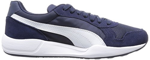 Puma St Runner Plus, Baskets Basses mixte adulte Bleu - Blau (peacoat-white-gold 04)