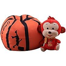 Softneco Basketball-f/örmigen Kinder Sofa mit hocker Pu Leder Freizeit Stuhl Couch Sessel m/öbel Weiche lagerschwelle-Sofa-Bett-Basketball 52 x 48 x 43cm