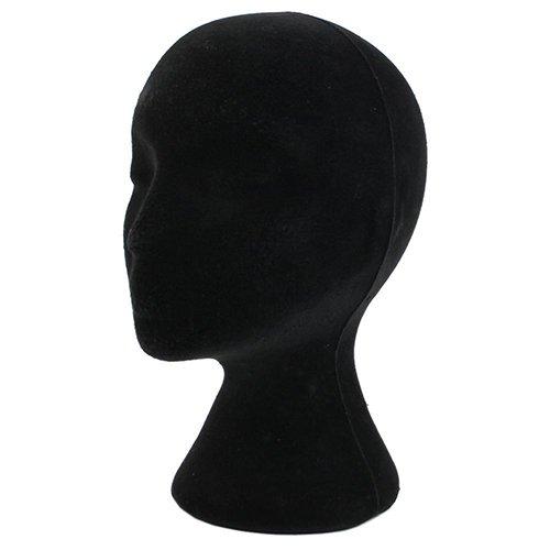 Flybuild testa di manichino feinile modello da espositore di parrucca occhiali cappello polistirolo colore nero