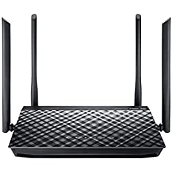 Asus RT-AC1200G Plus Router (WiFi 5 AC1200 MIMO, 4x Gigabit LAN, App Steuerung, DFS, Multifunktion USB 2.0, IPv6, VPN)