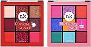 Nicka K Nine Color Eyeshadow Palette - Birthday Cake, Multicolor, 11 g with free Nicka K Nine Color Eyeshadow