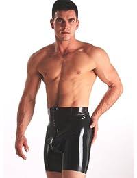 Skin Two Clothing Latex/Gummi-Radleshorts mit durchgehendem Zipverschluss