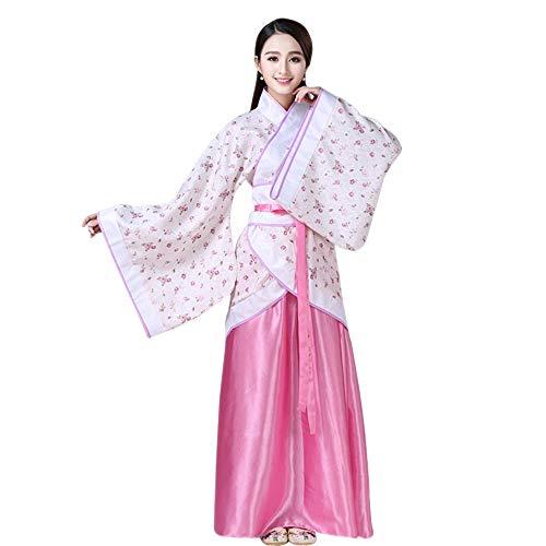 BOZEVON Damen Performances Kostüm - Altertümlich Chinesischen Stil Kleidung Kostüm Druck Nationalen Traditionellen Retro Hanfu Tang Anzug Cosplay Kostüm, Stil-5/2XL